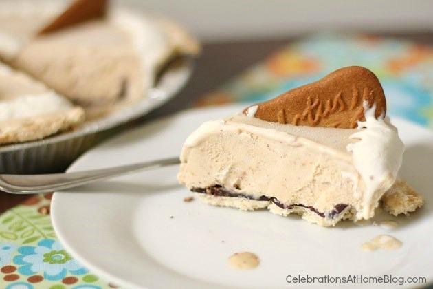 biscoff ice cream pie