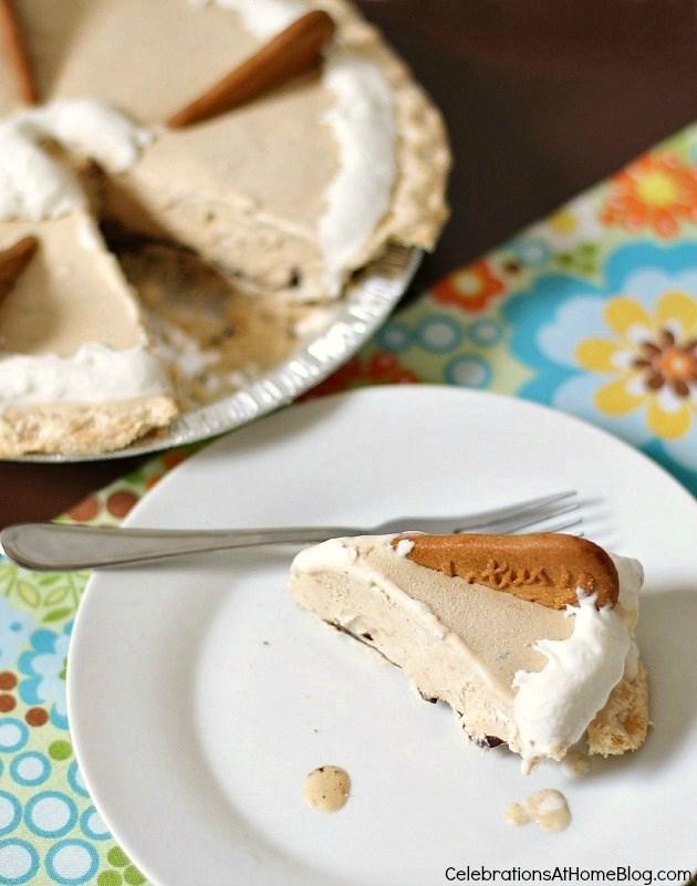 Biscoff ice cream pie #icecream #dessert