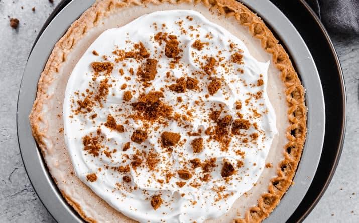 No-Churn Cookie Butter Ice Cream Pie