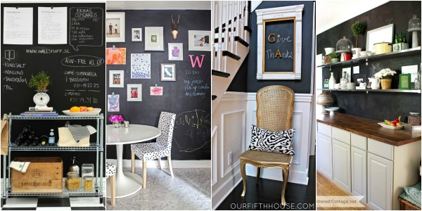 9 Ideas For Chalkboard Painted Walls