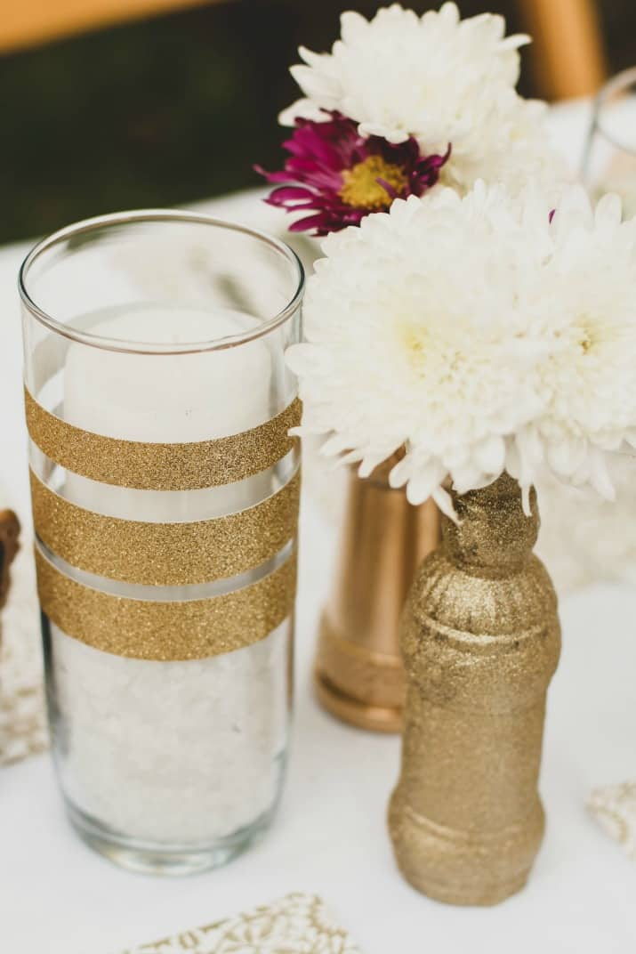 gold diy vases