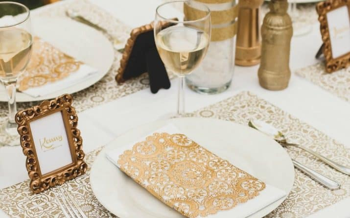 Gold Party Ideas For Anniversaries, Bridal Showers, Engagements