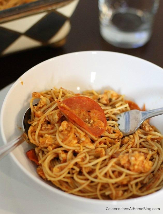 healthier baked spaghetti