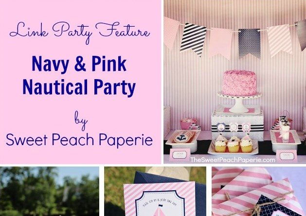 Pink & Navy Birthday Party