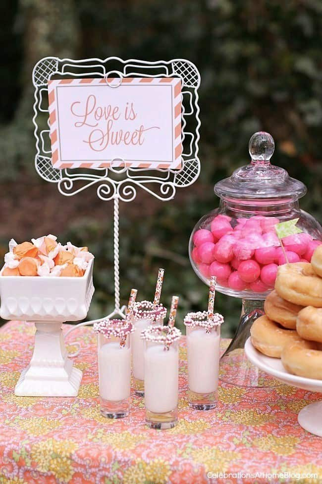 This pastel bridal party inspiration will give you lots of ideas for hosting a bridal shower, a bridesmaids luncheon, or even a small backyard wedding.