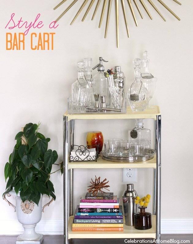 styling a bar cart
