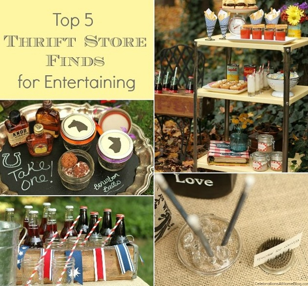 top 5 thrift store finds for entertaining