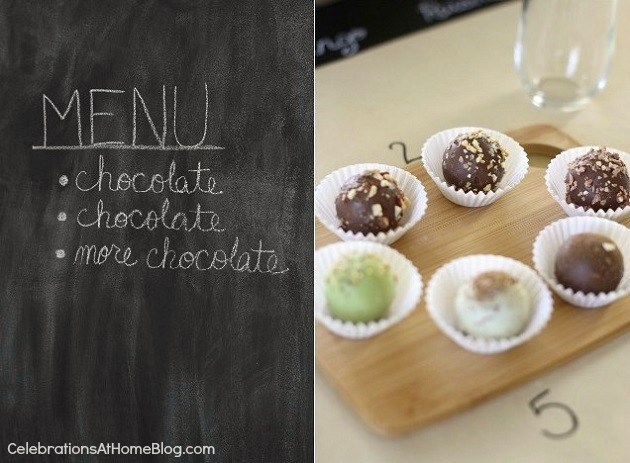 Godiva chocolate truffle tasting party