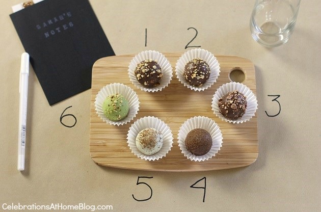 chocolate truffle tasting party