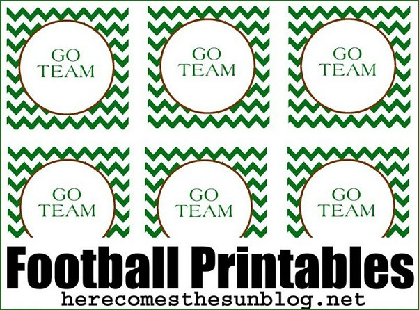 free football printables on Live Creatively Inspired
