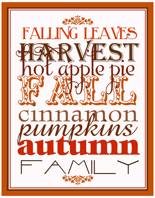 free fall printable from Hopscotch Studio Designs