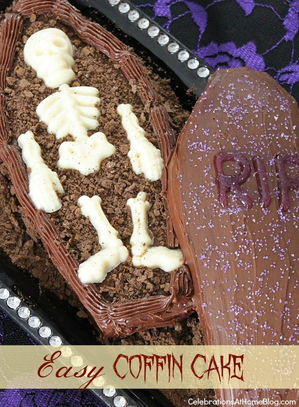 how to make a coffin cake for Halloween