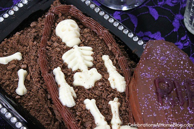 coffin cake for Halloween