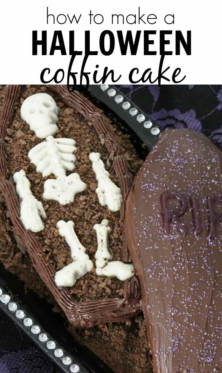 how to make a Halloween coffin cake