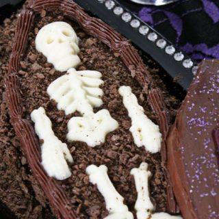 halloween coffin cake diy