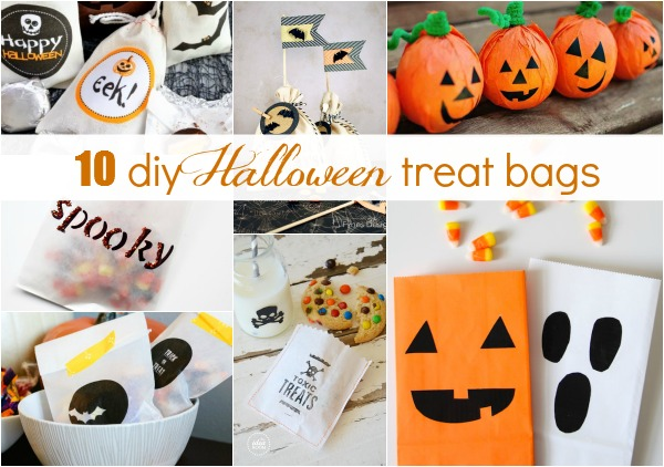 It's In The Bag :: 10 DIY Halloween Treat Bag Ideas