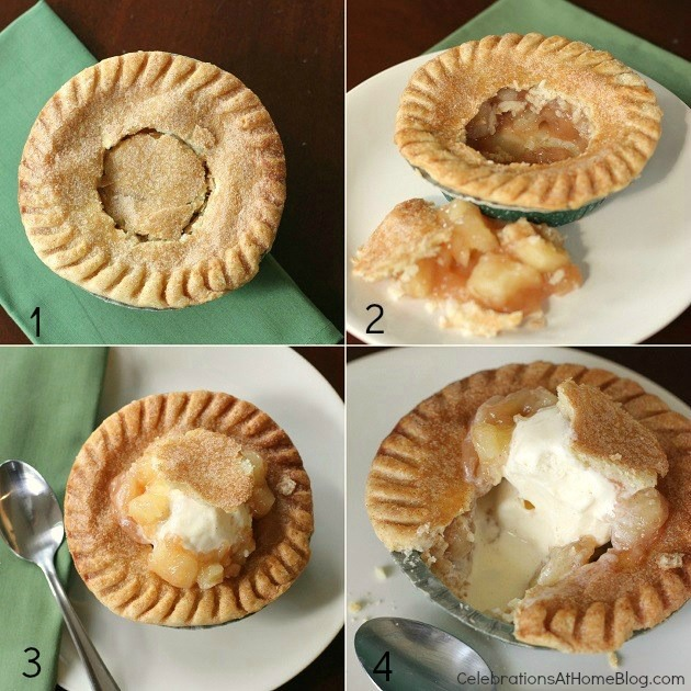 steps for fun mini pie a la mode