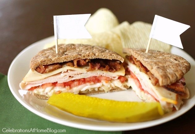 Chris' bacon ranch club sandwich