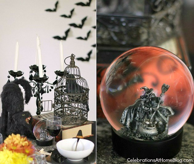 "Halloween party - ""witches night in"" theme for your best girl friends. table decor"