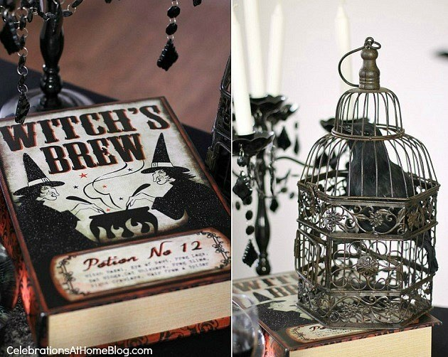 "Halloween party - ""witches night in"" theme for your best girl friends. book of witches spells."