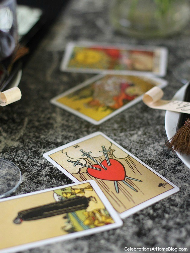 "Halloween party - ""witches night in"" theme for your best girl friends. Tarot cards"