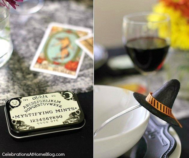 "Halloween party - ""witches night in"" theme for your best girl friends. ouija tins favors"