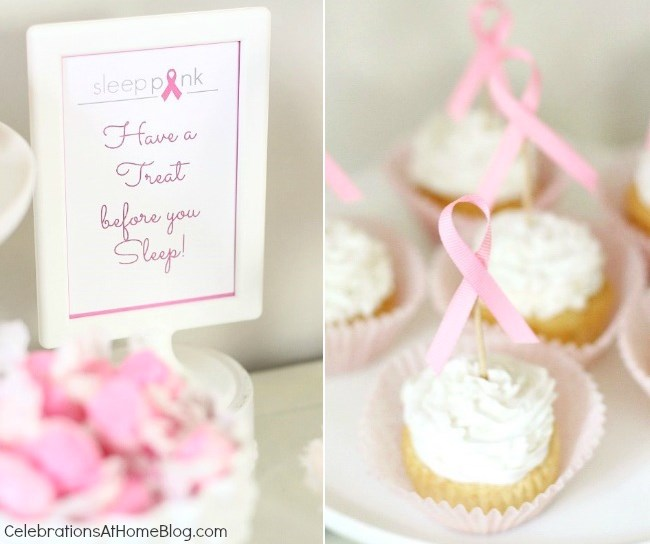 pink sign and cupcake toppers