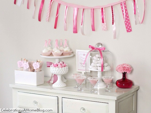 Here's your guide to host a pink party for breast cancer awareness. It includes decorating ideas, food, and drink recipes to get you started. pink dessert