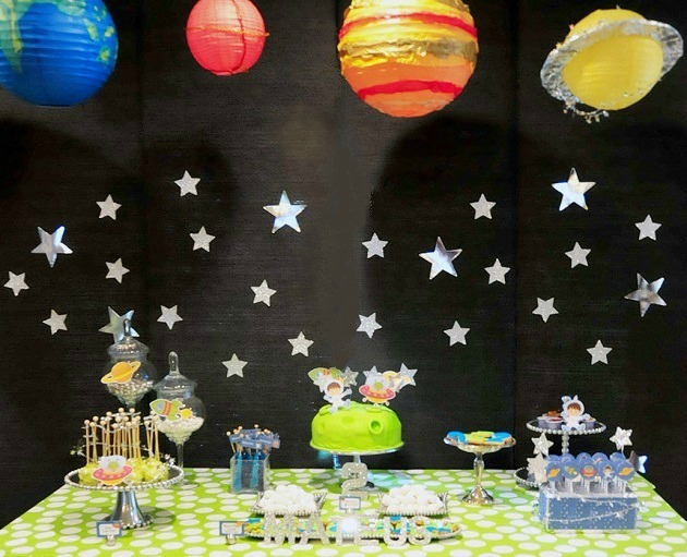 Todays Party Feature Is Out Of This World Flavia Fete A Shared Space Themed She Threw For Her 2 Year Old Son