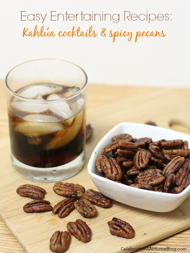 kahlua cocktails and spicy pecans recipes