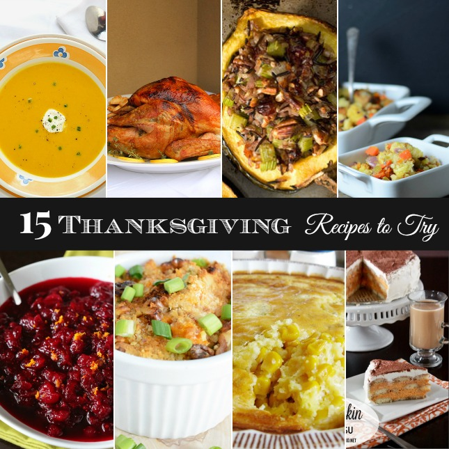 15 Thanksgiving recipes to try