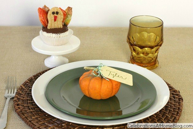 Kids Thanksgiving place setting