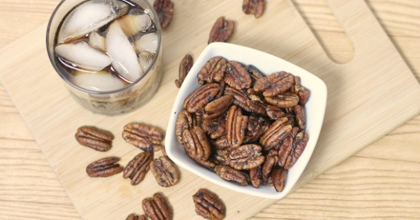 cocktails and spicy pecans recipes