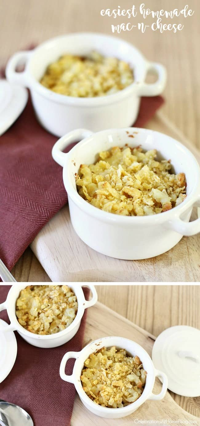 the easiest homemade mac-n-cheese recipe you'll ever make. Delicious macaroni and cheese just got easier.