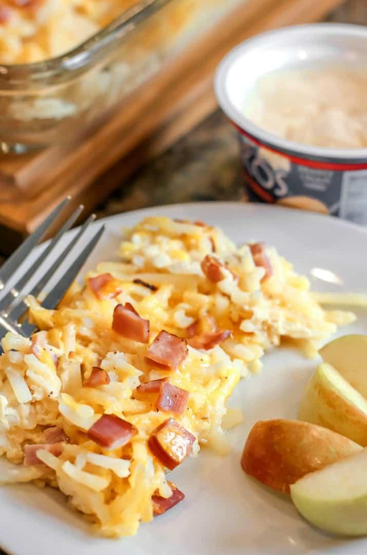 easy breakfast casserole recipe on plate