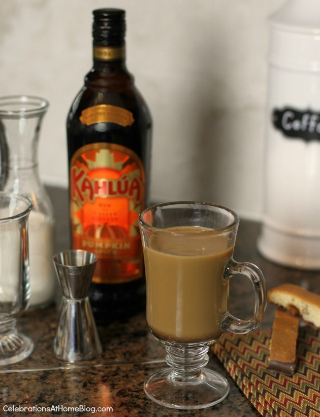 pumpkin spice Kahlua coffee