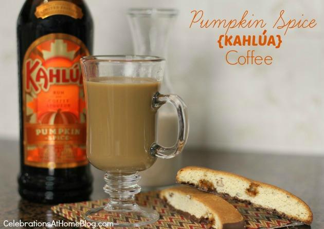 pumpkin spice Kahlua coffee recipe
