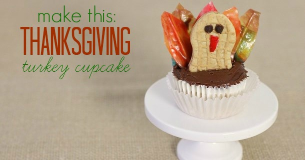 make a Thanksgiving Turkey Cupcake