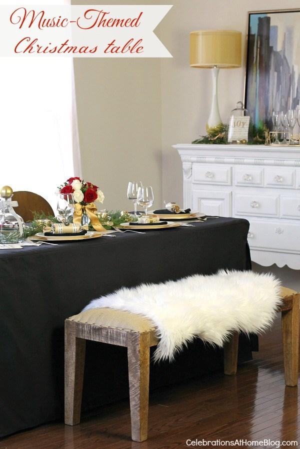 Music themed Christmas table