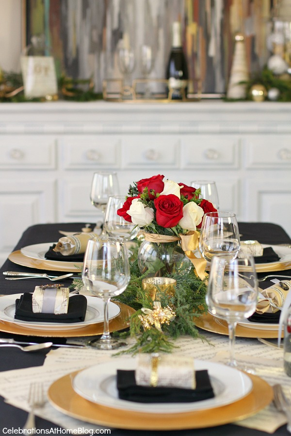 Music Themed Christmas Tabletop Design Celebrations At Home
