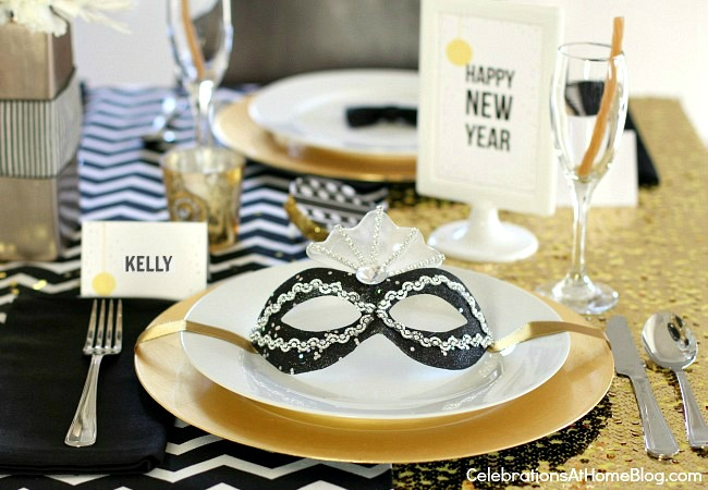 golden glam NYE party