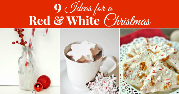 9 ideas for a red and white christmas