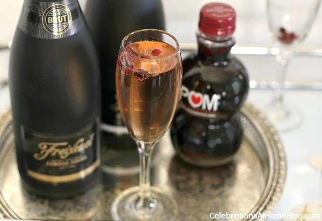 NYE sparkling cocktail