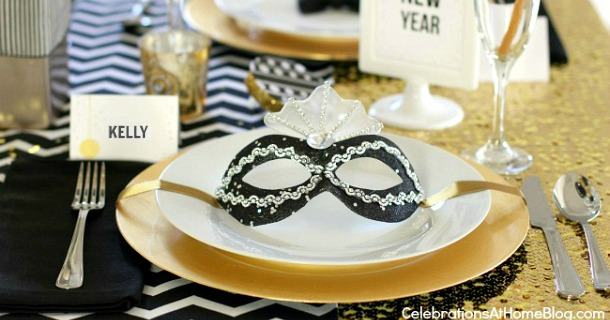 New Years Eve Golden Glam Dinner Party