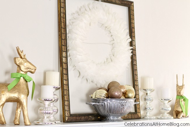 Get Christmas & decorating entertaining ideas here, with an updated classic twist. You'll love the neutral colors with a modern edge. christmas mantel