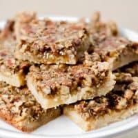 Easy Pecan Pie Bars with Sugar Cookie Crust