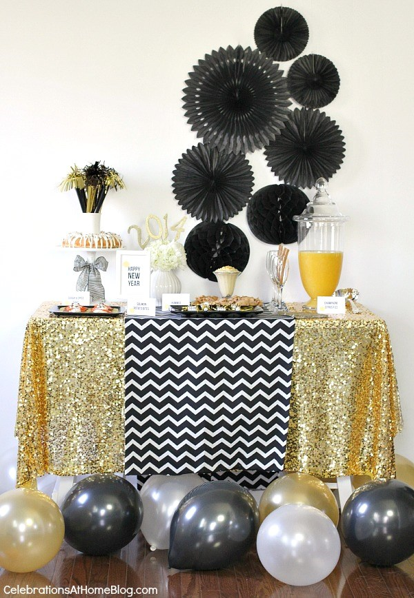 New Years Eve Golden Glam Dinner Party Celebrations At Home