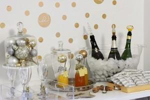 holiday bubbly bar