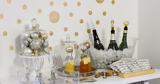 holiday bubbly bar