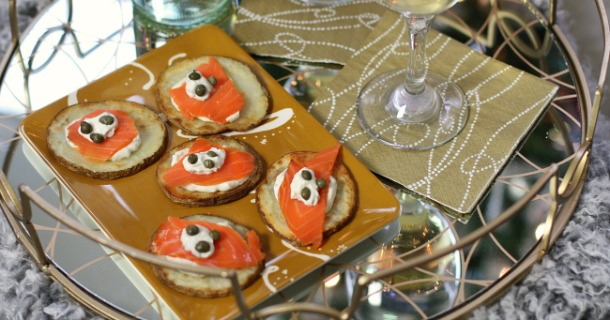 Salmon Potato Bites Appetizers + 10 Do's & Don'ts for Holiday Entertaining